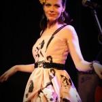 Ginger dancing in her beautiful dress from Blackbird Studios, in Hamilton.