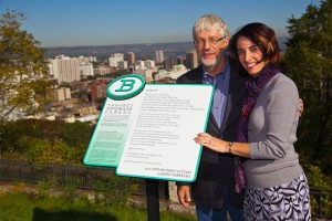 Photo taken from Project Bookmark's website. John Terpstra (right) and Miranda Hill (left)
