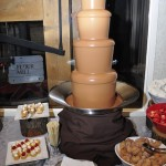 Yum...chocolate fountain!