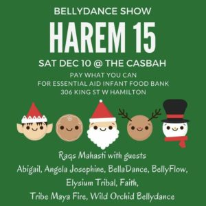 Harem Holiday Charity Bellydance Show, The Casbah, Dec. 10