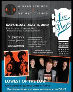 Guitar Strings and Kidney Things Benefit Concert, The Studio, Hamilton, May 4