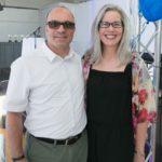 Board member Alfonso Bruno and Heather Bruno