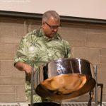 InfraRed Steel drum performer