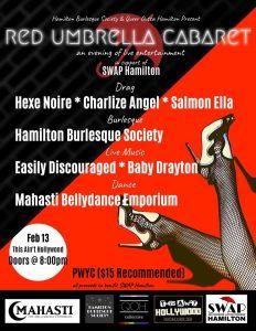 Red Umbrella Cabaret: SWAP Hamilton Fundraiser, This Ain't Hollywood, Feb. 13/20