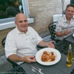 Glen and Mike enjoy their mains