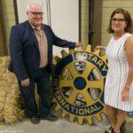 Tim McClemont, Rotary Club President and MC Sunni Gennesco