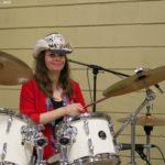 Brenda on drums