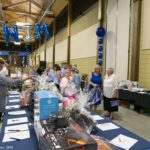 Viewing the silent auction items