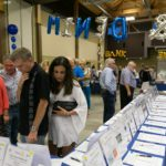 Looking at the many silent auction items