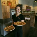 Morgan served us delicious pizza at The Express Italian Eatery