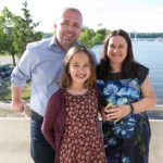 Board member Csilla and her family