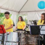 Members of the Hamilton Youth Steel Orchestra