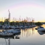 Lovely sunset at Maccassa Yacht Club