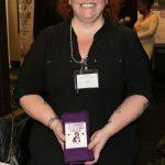 Jodi Hunt sold scarves on behalf of Interval House
